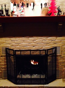 My lovely fireplace.